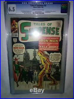 TALES OF SUSPENSE#43 CGC 6.5, Put some EARLY GOLD ARMOR in your collection