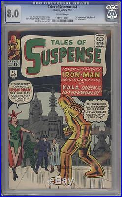 TALES OF SUSPENSE 43 CGC 8.0 1st Kala Appearance Marvel Comics