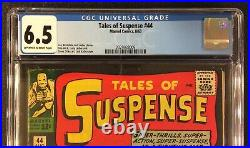 TALES OF SUSPENSE #44 Comic CGC 6.5 Marvel 1963 Silver Age IRON MAN Kirby Cover