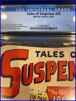 TALES OF SUSPENSE #45 KEY, CGC 3.5 1st PEPPER POTTS & JACK FROST 1963