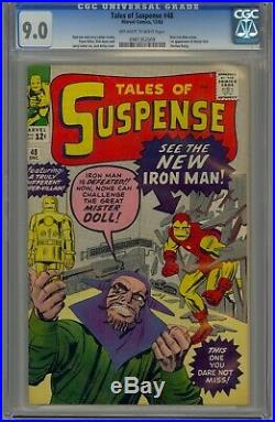 TALES OF SUSPENSE 48 CGC 9.0 OWithW FIRST RED/GOLD ARMOR 1963 NEVER PRESSED