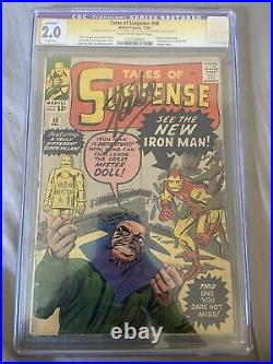 TALES OF SUSPENSE #48! Cgc 2.0 SS Stan Lee Signed! 1st Mr. Doll! 1st New Armor