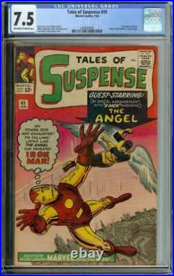 TALES OF SUSPENSE #49 CGC 7.5 OWithWH PAGES