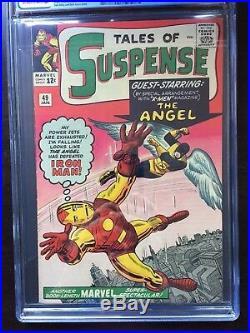 TALES OF SUSPENSE #49 CGC VF+ 8.5 OW-W 1st X-Men x-over