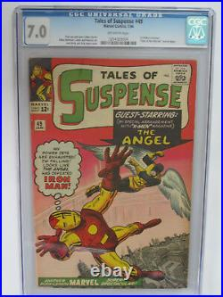 TALES OF SUSPENSE # 49 US MARVEL 1964 KIRBY 1st X Men x-over CGC 7.0 FN-VFN
