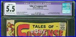 TALES OF SUSPENSE 50 (1964) CGC 5.5 RESTORED 1st App. Of the MANDARIN