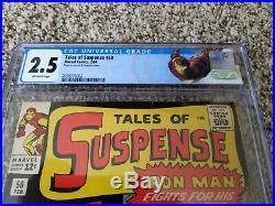 TALES OF SUSPENSE #50 CGC 2.5 (Marvel 2/1964) IRON MAN and First App. MANDARIN