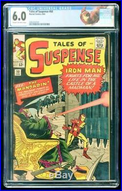 TALES OF SUSPENSE #50 CGC 6.0 1st APPEARANCE OF MANDARIN IRON MAN CUSTOM LABEL