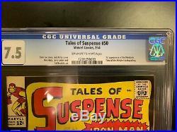 TALES OF SUSPENSE #50 CGC 7.5 1st Appearance The Mandarin Iron Man