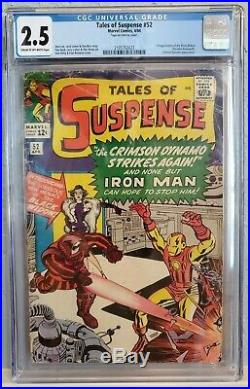 TALES OF SUSPENSE #52 (1964). CGC 2.5 Good+ First appearance of BLACK WIDOW
