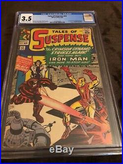 TALES OF SUSPENSE #52 CGC 3.5! 1ST APPEARANCE BLACK WIDOW! OF-WithW KEY/MOVIE! L
