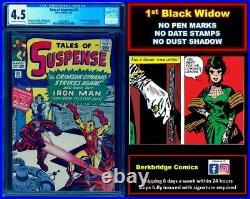 TALES OF SUSPENSE 52 CGC 4.5 OWW NICE AS 5.5 1st BLACK WIDOW CLOSE UP PICS