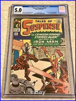 TALES OF SUSPENSE 52 CGC 5.0 1st Appearance BLACK WIDOW Movie! Marvel 1964