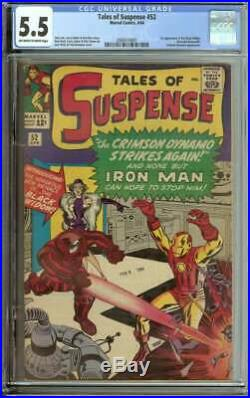 TALES OF SUSPENSE #52 CGC 5.5 OWithWH PAGES