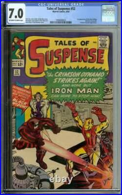 TALES OF SUSPENSE #52 CGC 7.0 OWithWH PAGES // 1ST APP BLACK WIDOW MARVEL 1964