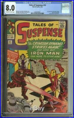 TALES OF SUSPENSE #52 CGC 8.0 OWithWH PAGES