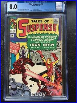 TALES OF SUSPENSE #52 CGC VF 8.0 OW-W 1st app. Of the Black Widow