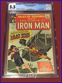 TALES OF SUSPENSE 53 CGC 5.5 Iron Man 1964 Black Widow Stan Lee Jack Kirby
