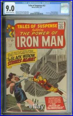 TALES OF SUSPENSE #53 CGC 9.0 OWithWH PAGES