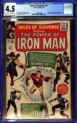 TALES OF SUSPENSE #57 (1964 Marvel) CGC 4.5 VG+ 1st Appearance Hawkeye