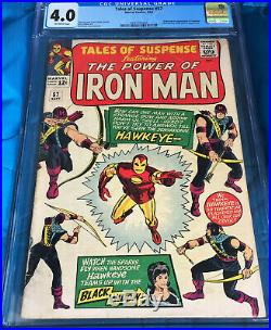 TALES OF SUSPENSE #57 CGC 4.0 OW Pages Silver Age Comic Book 1ST APP HAWKEYE
