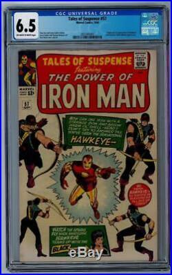 TALES OF SUSPENSE #57 CGC 6.5 First Hawkeye Iron Man Black Widow