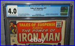 TALES OF SUSPENSE #57 (Hawkeye 1st app) CGC 4.0 VG Marvel 1964 Iron Man
