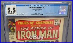 TALES OF SUSPENSE #57 (Hawkeye 1st app. & origin) CGC 5.5 FN- Marvel Comics 1964