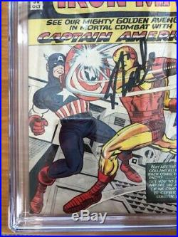 TALES OF SUSPENSE #58 CGC 7.5 OFF WithW PAGES SIGNED BY STAN LEE CAPTIAN AMERICA