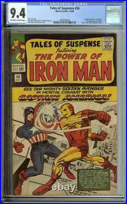 TALES OF SUSPENSE #58 CGC 9.4 OWithWH PAGES // CAPTAIN AMERICA VS. IRON MAN BATTLE