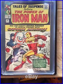 TALES OF SUSPENSE #58 CGC VF 8.0 OW classic Captain America vs. Iron Man