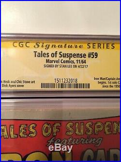 TALES OF SUSPENSE 59 CGC 4.5 Signed by STAN LEE