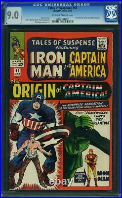 TALES OF SUSPENSE # 63 US MARVEL 1965 origin of CAPTAIN AMERICA CGC 9.0 VFN-NM