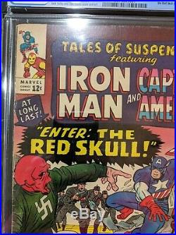 TALES OF SUSPENSE #65 CGC 4.5 O/W Pages Iron Man Captain America 1st Red Skull