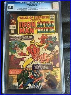 TALES OF SUSPENSE #67 CGC VF 8.0 OW-W Red Skull and Hitler app