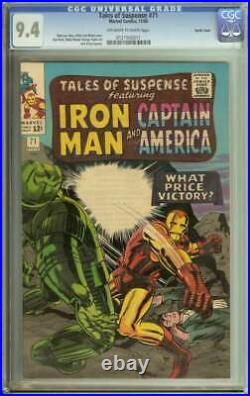 TALES OF SUSPENSE #71 CGC 9.4 OWithWH PAGES PACIFIC COAST