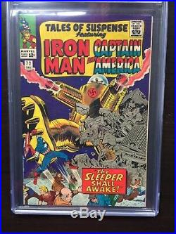 TALES OF SUSPENSE #72 CGC NM 9.4 White pg! Kirby Captain America cover