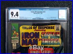 TALES OF SUSPENSE #74 CGC 9.4 STAN LEE Story! Sleeper & Happy Hogan Freak