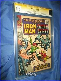 TALES OF SUSPENSE #75 CGC 8.5 SS Signed by Stan Lee 1st Sharon Carter
