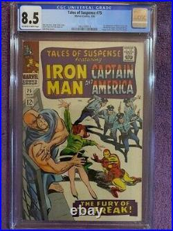 TALES OF SUSPENSE #75 CGC 8.5 VF+ 1st Appearance SHARON CARTER 1966 Very Fine