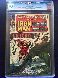 TALES OF SUSPENSE #83 CGC NM 9.4 OW-W Colan Iron Man cover