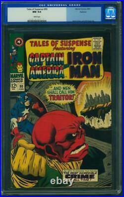 TALES OF SUSPENSE #90 PEDIGREE CGC 9.4 NM 1967, Captain America vs Red Skull