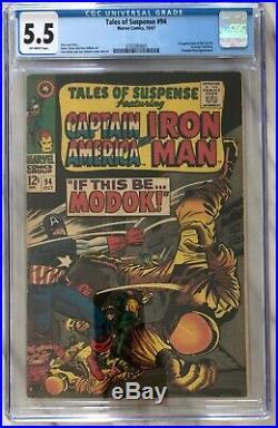 TALES OF SUSPENSE #94 CGC 5.5 (OW) 1st appearance of MODOK Marvel Comics 1967