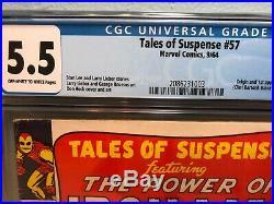 TALES OF SUSPENSE No 57, 1st Hawkeye, Marvel, CGC 5.5