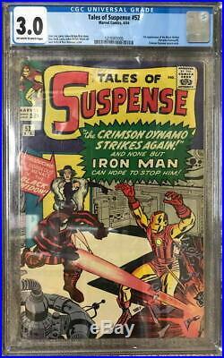 TALES Of SUSPENSE 52 CGC 3.0 1st App BLACK WIDOW 1964 Iron Man Crimson Dynamo