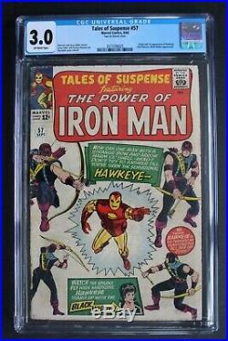 TALES of SUSPENSE 57 ORIGIN 1st Barton HAWKEYE 1964 Avengers Black Widow CGC 3.0