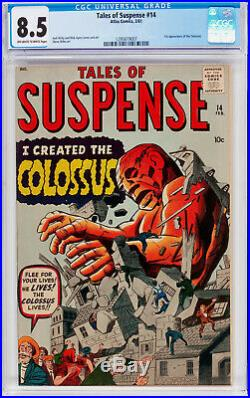 Tales Of Suspense #14 Cgc 8.5 Oww 1st Appearance Of Colossus Cgc#1295619007