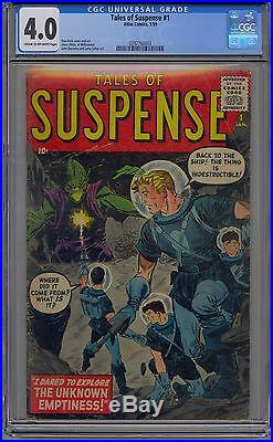 Tales Of Suspense #1 Cgc 4.0 Marvel Rare First Issue
