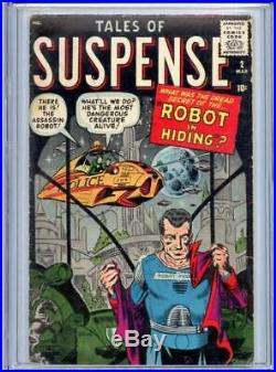 Tales Of Suspense #2 CGC 3.0 (GD/VG) Ditko Atlas Marvel Comics Silver Age 1959