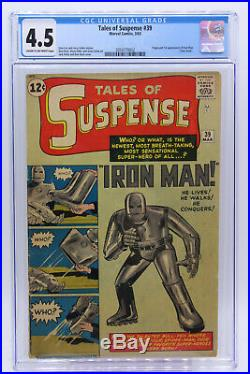 Tales Of Suspense # 39 CGC 4.5 Origin and 1st appearance of Iron Man